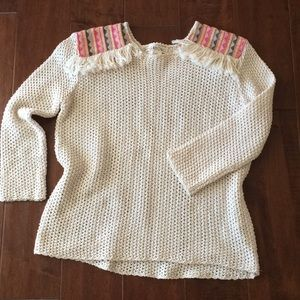 Billabong Sandy Kisses 3/4 fringed sweater